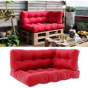 Vicco Palettenkissen-Set Sitzkissen + Rückenkissen + Seitenkissen Flocke, verschiedene Farben - Bild 1