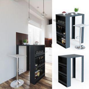VICCO Bartisch Bar Tresen Anthrazit Bartresen Stehtisch Tisch Tresentisch Bistrotisch Küche - Bild 1