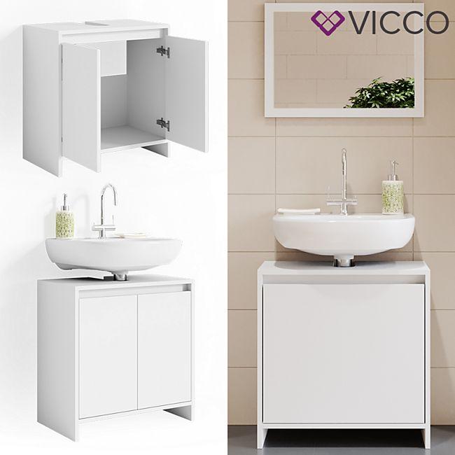 VICCO Waschbeckenunterschrank EMMA Weiß Unterschrank Badschrank Badezimmer - Bild 1