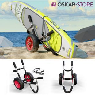 Oskar Transportwagen für SUP Stand Up Paddle Surfboard Transport Kajakwagen Alu - Bild 1