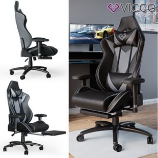 VICCO Gaming Chair SIRIUS Racing Stuhl Bürostuhl Chefsessel Fußstütze PU-Leder - Bild 1