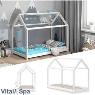 VITALISPA Hausbett WIKI 80x160 Weiß Kinderbett Kinderhaus Kinder Bett Holz - Bild 1