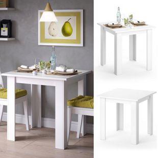 VICCO Esstisch KARLOS Esszimmertisch 80cm Weiß Wohnzimmer Küchentisch Tisch - Bild 1