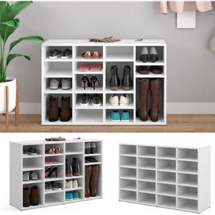 Vicco Schuhschrank LYSANDER Weiß für 20 Paar Schuhe Schuhständer Schuhablage Flur Diele - Bild 1