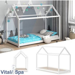 VITALISPA Hausbett WIKI 90x200 Weiß Kinderbett Kinderhaus Kinder Bett Holz - Bild 1