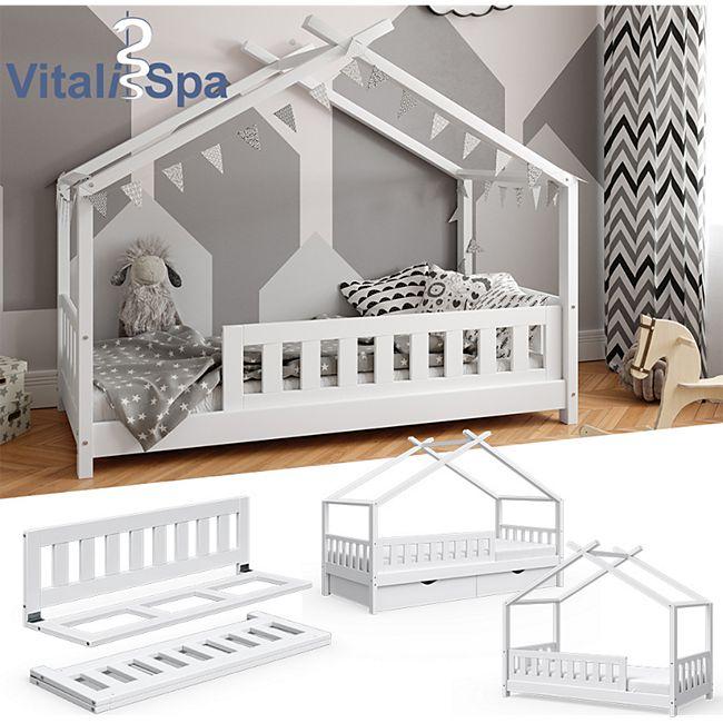VITALISPA Rausfallschutz für Kinderbett Bettschutzgitter Bettgitter 120cm Holz - Bild 1