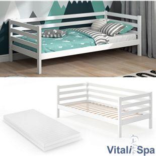 VITALISPA Kinderbett DARCY 90x200cm Weiß mit Matratze - Bild 1