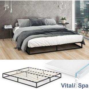 VitaliSpa Metallbett Mattia Bettgestell inkl Lattenrost Gästebett Bett inkl. Matratze 180 x 200 cm - Bild 1