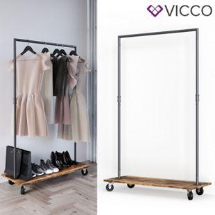Vicco Kleiderständer Fyrk Kleiderstange Schwerlast Garderobenständer auf Rollen - Bild 1