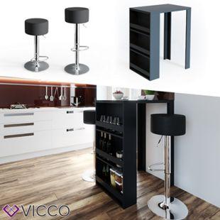 VICCO Bartisch Bar Tresen drei Farben Bartresen Stehtisch Tisch Tisch Bistrotisch inkl. Barhocker - Bild 1