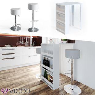 VICCO Bartisch Bartresen Stehtisch Tisch Tresentisch Bistrotisch Küche Weiß - Bild 1