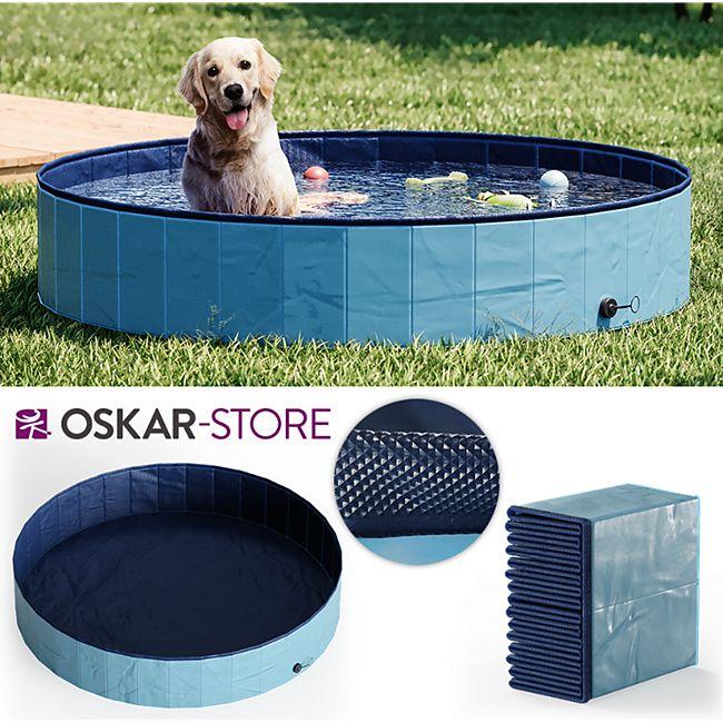OSKAR Hundepool 160cm Schwimmbad für Hunde Planschbecken Swimmingpool Kinderpool - Bild 1