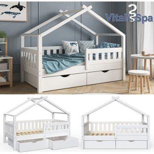 VitaliSpa Design Kinderbett 160x80 Babybett Jugendbett 2 Schubladen Lattenrost - Bild 1