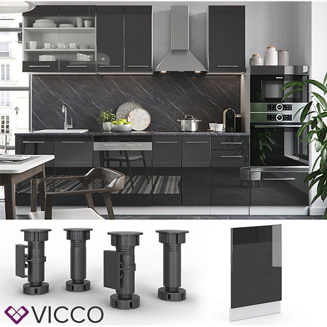 VICCO Geschirrspülerblende 45 cm Anthrazit Küchenzeile Unterschrank Fame - Bild 1