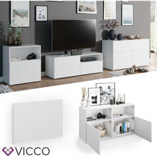 VICCO Tür Front COMPO M9 weiß Mittel Schublade Schrank Bücherregal Akten - Bild 1