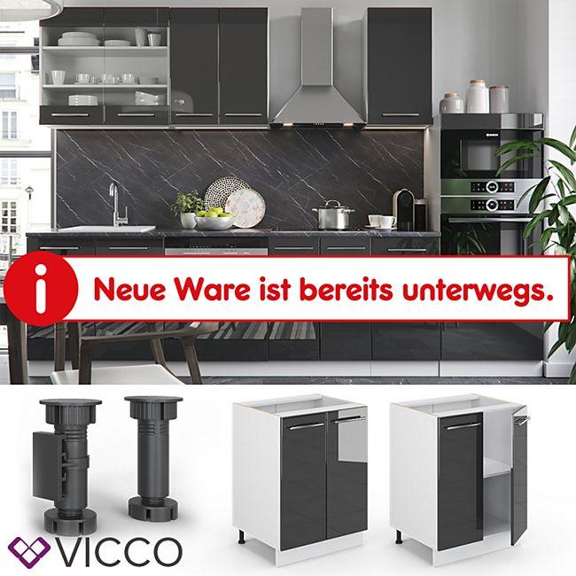 VICCO Unterschrank 60 cm Anthrazit Küchenzeile Unterschrank Fame - Bild 1