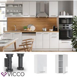 VICCO Hängeschrank 40 cm Weiß Küchenzeile Unterschrank Fame - Bild 1