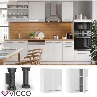 VICCO Hängeschrank 60 cm Weiß Küchenzeile Unterschrank Fame - Bild 1
