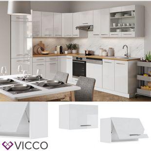 VICCO Hängeschrank 60 cm (flach) Weiß Küchenzeile Unterschrank Fame - Bild 1