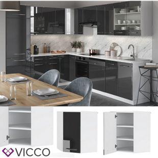VICCO Eckhängeschrank 57 cm Anthrazit Küchenzeile Unterschrank Fame - Bild 1