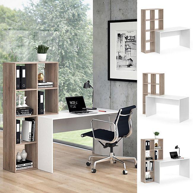 Vicco Schreibtisch mit Regal Mara Sonoma Raumteiler Computertisch Arbeitstisch - Bild 1