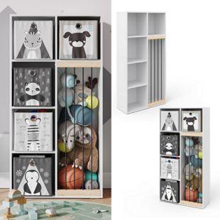 Vicco Kinderregal Marvin Plüschtier-Box Aufbewahrung Bücherregal Standregal Holz - Bild 1