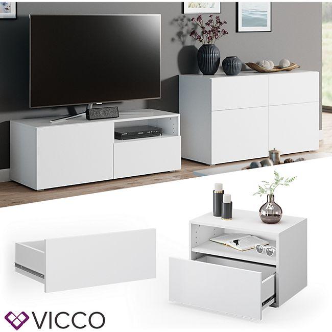 VICCO Schublade COMPO M12 weiß/weiß Klein Aktenschrank Bücherregal - Bild 1