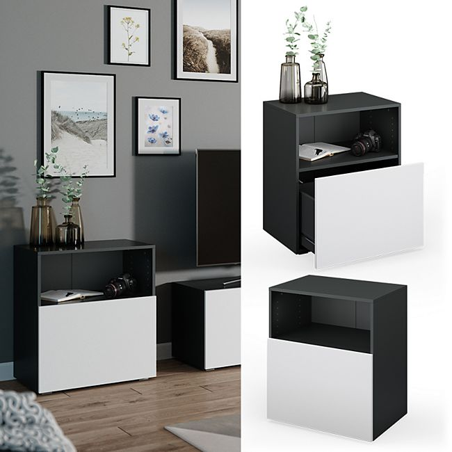 VICCO Schrank COMPO Schubladenschrank Aktenschrank Büro anthrazit weiß - Bild 1