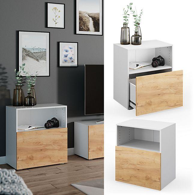 VICCO Schrank COMPO Schubladenschrank Aktenschrank Büro Wohnzimmer weiß Eiche - Bild 1