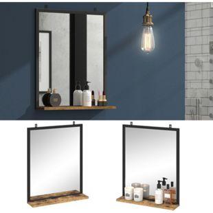 Vicco Badspiegel Fyrk Vintage Badezimmerspiegel mit Ablage Wandspiegel für Bad - Bild 1