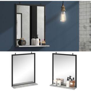 Vicco Badspiegel Fyrk Beton Badezimmerspiegel mit Ablage Wandspiegel für Bad - Bild 1