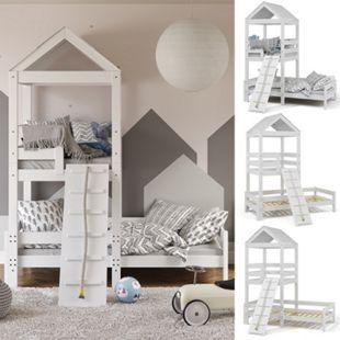 VitaliSpa Kinderbett Teddy 90x200cm Spielturm Bett Spielbett Jugendbett Hausbett - Bild 1