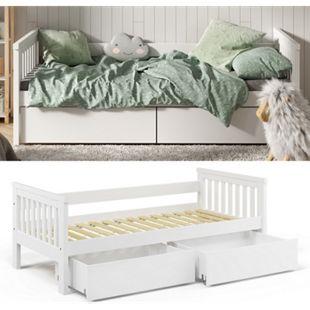 VitaliSpa Tagesbett Luna Kinderbett 90x200cm Schubladen Jugendbett Bettgestell - Bild 1