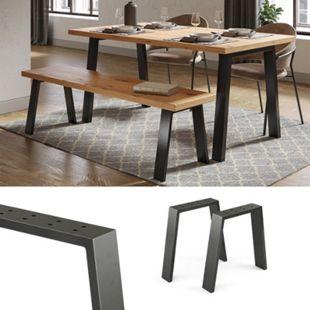 Vicco Loft Tischkufen U-Form 42cm Tischbeine Tischgestell Couchtisch Möbelfüße - Bild 1