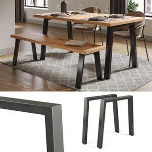 Vicco Loft Tischkufen U-Form 72cm Tischbeine DIY Tischgestell Esstisch Möbelfüße - Bild 1