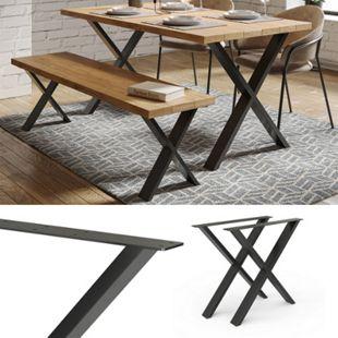 Vicco Loft Tischkufen X-Form 72cm Tischbeine DIY Tischgestell Esstisch Möbelfüße - Bild 1