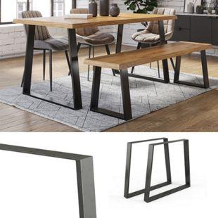 Vicco Loft Tischkufen Trapez 72cm Tischbeine DIY Tischgestell Esstisch Möbelfüße - Bild 1