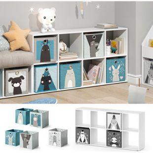 Vicco Kinderregal 8 Fächer inklusive Kinder Faltboxen Bücherregal Aufbewahrungsregal Spielzeug - Bild 1
