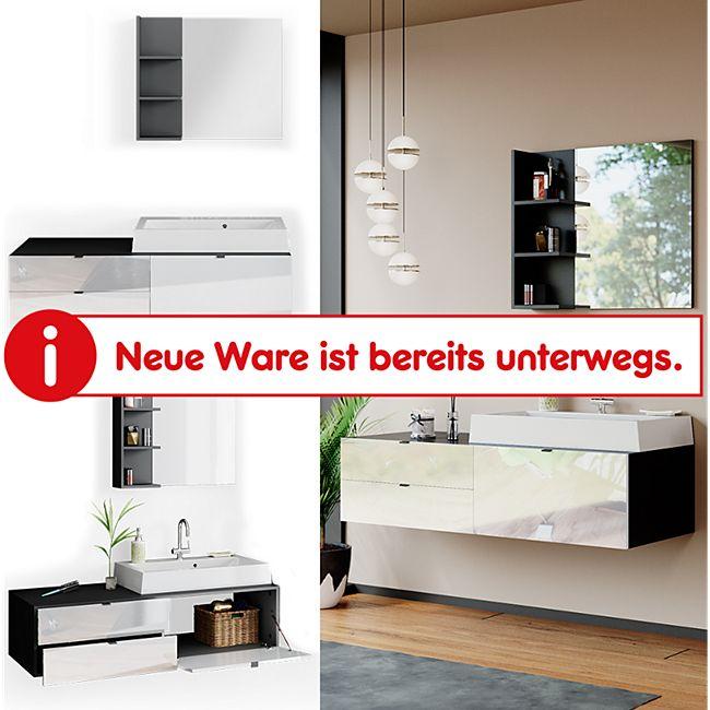 Vicco Badmöbel Set Bora Spiegelschrank Badspiegel Waschtisch mit Waschbecken Bad - Bild 1