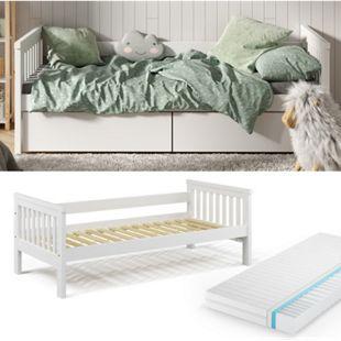 VitaliSpa Tagesbett Luna Kinderbett 90x200cm mit Matratze Jugendbett Bettgestell - Bild 1