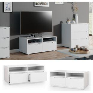 Vicco Lowboard Ruben weiß 100cm TV-Board Fernsehschrank TV-Schrank Regal Tisch - Bild 1