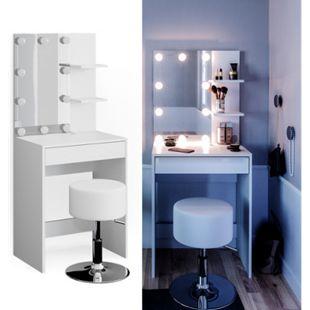 Vicco Schminktisch Frisiertisch Schminkkommode Isabelle LED-Beleuchtung + Hocker - Bild 1