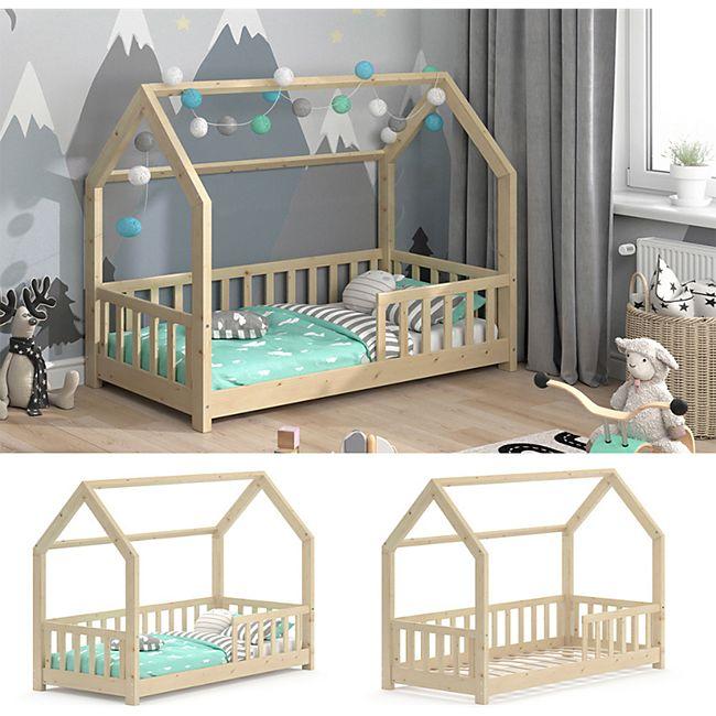 VitaliSpa Kinderbett Hausbett Spielbett Wiki 80x160cm Lattenrost Rausfallschutz - Bild 1