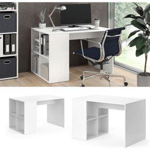 Vicco Schreibtisch Bürotisch Arbeitstisch Adeon weiß Raumteiler Computertisch - Bild 1