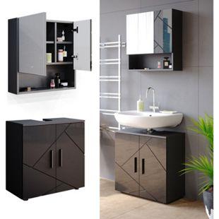 Vicco Badmöbel Set Badezimmermöbel Irma Spiegelschrank Waschbeckunterschrank - Bild 1