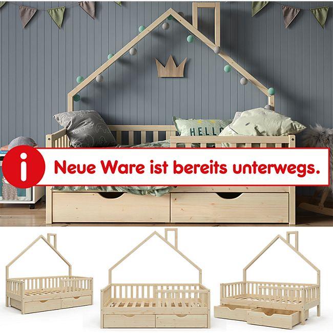 VitaliSpa Hausbett Kinderbett Spielbett Noemi 80x160cm Schubladen Rausfallschutz - Bild 1