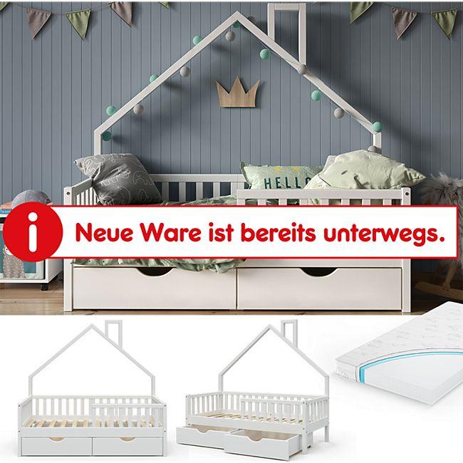 VitaliSpa Hausbett Kinderbett Spielbett Noemi 80x160cm inkl. Matratze Schubladen - Bild 1