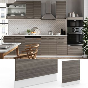 VICCO Geschirrspülerfront 60 cm Edelgrau Küchenschrank Blende Küchenzeile Fame-Line - Bild 1