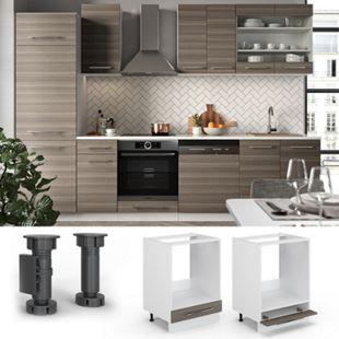 VICCO Herdumbauschrank 60 cm Edelgrau Küchenschrank Hängeschrank Küchenzeile Fame-Line - Bild 1