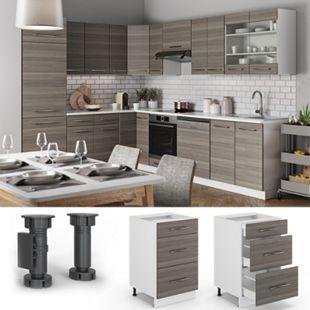 VICCO Schubunterschrank 50 cm Küchenschrank Hängeschrank Küchenzeile Fame-Line - Bild 1